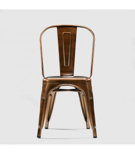 Gunter Metal Dining Chair - Copper -