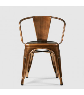 ARK-8030A-COP - Fritz Metal Dining Chair - Copper -