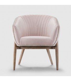 PJL-PJC379-VP - Lennon Dining Room Chair - Velvet Pink -