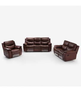 K1159-C-SET - Christopher Recliner Set - Cinnamon -