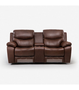 K1159-2-CUP-C - Christopher 2 Seater Cinema Recliner - Cinnamon -