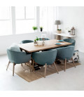 PJL-PJC379 - Lennon Dining Room Chair - Teal -