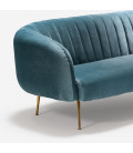 Corbin Upholstered Couch - Teal -