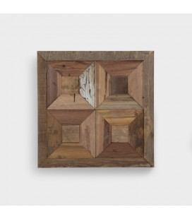 Besar Wooden Wall Decor - Square