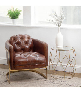 HBF3070-1 - Heston Chesterfield Armchair - Gold Framed -