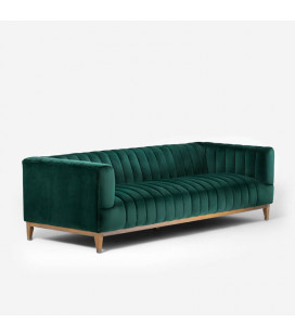 Astoria Couch - Velvet Emerald Green