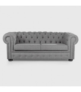 WH-CHES-F-F7 - Chesterfield Fabric Couch - 2 Seater -