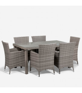 Nevada Patio Dining Set -Titanium