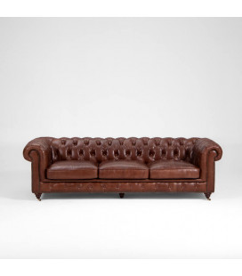 HBF3009-3-08BR - Jefferson Chesterfield Couch - Brown -
