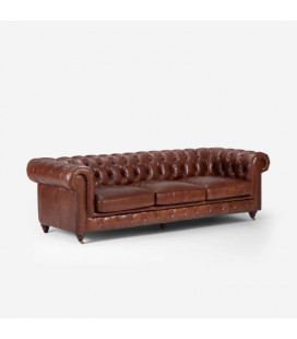 Jefferson Chesterfield Couch - Brown -
