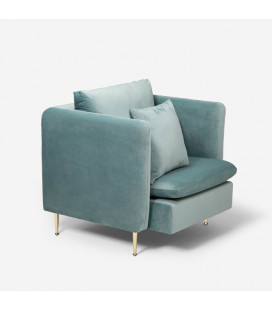 Sherman Armchair - Misty Teal