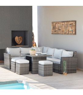 Belize Corner Patio Lounge Set