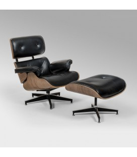 HBF-ECO-BK - Replica Eames Chair + Ottoman -