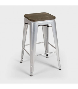 Matthew Metal Bar Stool - Bullet Silver