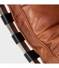 Morello Chaise Vintage Brown Leather Lounger -