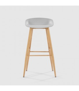Hunter Bar Stool - Light Grey