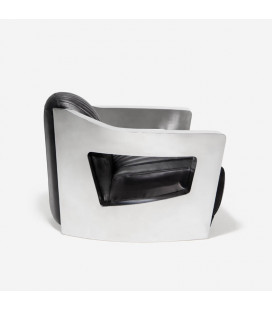 Space Chair - Leather and Chrome
