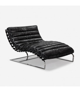 Morello Chaise - Large - Distressed Black