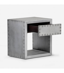 Crossfire Side Table with Drawer