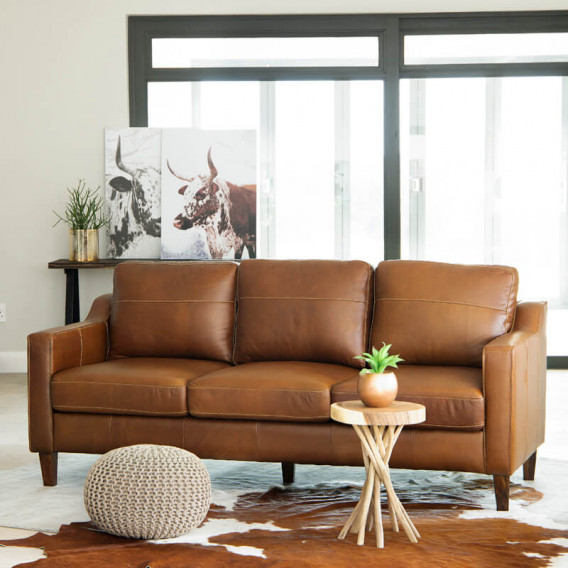 Goldman Leather Couch Light Brown Leather Couches