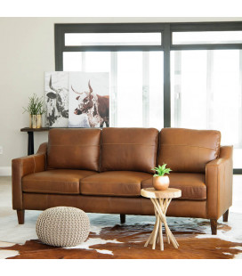 Goldman Leather Couch - Light Brown | Leather Couches | Living | Cielo -