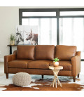 Goldman Leather Couch - Light Brown