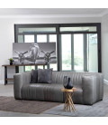 Rockefeller Leather Couch - Ash