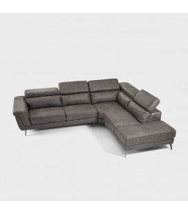 Damian Corner Couch -Mercury - Left Chaise