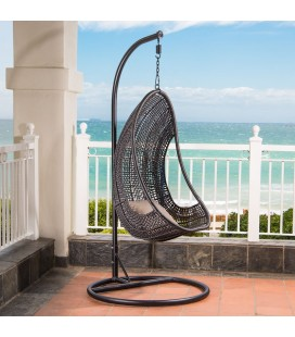 HJ-6-BK - Atilla Hanging Chair - Black -