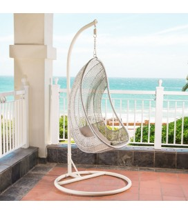 HJ-6-WH - Atilla Hanging Chair - White -