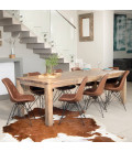 Vancouver Enzo Dining Set - Vintage Brown - 2.4m