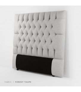 Catherine Headboard Double - Forest Taupe