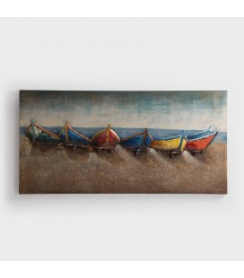 PT-G160121 - Fishing Boats - 3D Metal Art -