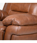Chestnut Brown Reece 3 Seater Recliner Couches -