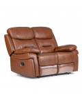 Reece Recliner - 2 Seater - Chestnut Brown