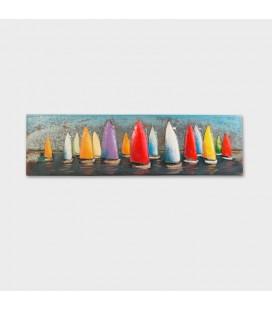 PT-T130814 - 3D Metal Wall Art - Sailing -