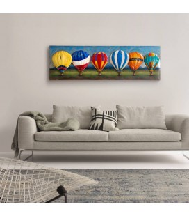PT-T150746 - 3D Metal Wall Art - Hot Air Balloons -