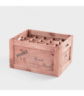 River Wood Wine Crate - 20 Bottle