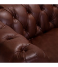 Jefferson Chesterfield Couch - Brown