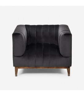 Astoria Armchair - Velvet Charcoal