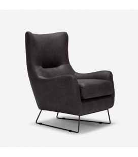 Halford Armchair - Aged Charcoal| Armchairs for Sale -