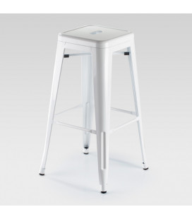 Malcolm Metal Stool - White