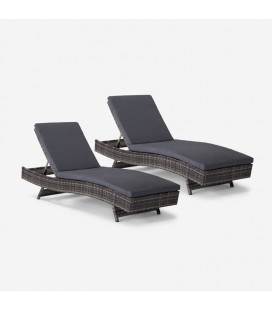 Eclipse Pool Lounger - Fossil Grey - Set of 2