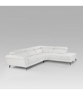Damian Corner Couch - White - Left Chaise | Fabric Couches | Couches | Living | Cielo -