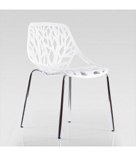 ARK8076-WH - Bailey Dining Room Chair - White -