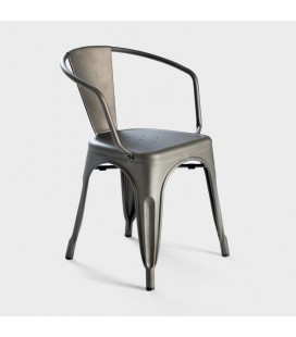 ARK-8030A - Fritz Metal Dining Chair - Weathered Bronze -