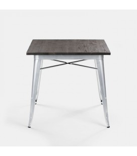 ARK-T006-BS-NW - Owen Dining Table - Bullet Silver -