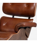 Replica Eames Chair + Ottoman - Tan | Leather Loungers | Leather | Living -