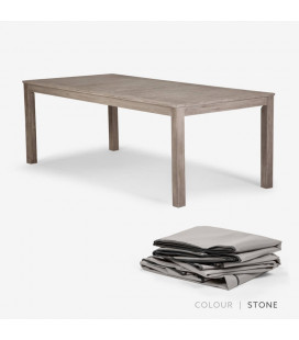 Capri Dining Table - Protective Cover - Stone | Protective Cover | Patio | Waterproof Cover | Cielo -