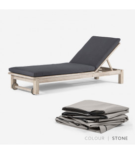Nevis Pool Lounger - Protective Cover - Stone | Protective Cover | Patio | Waterproof Cover | Cielo -